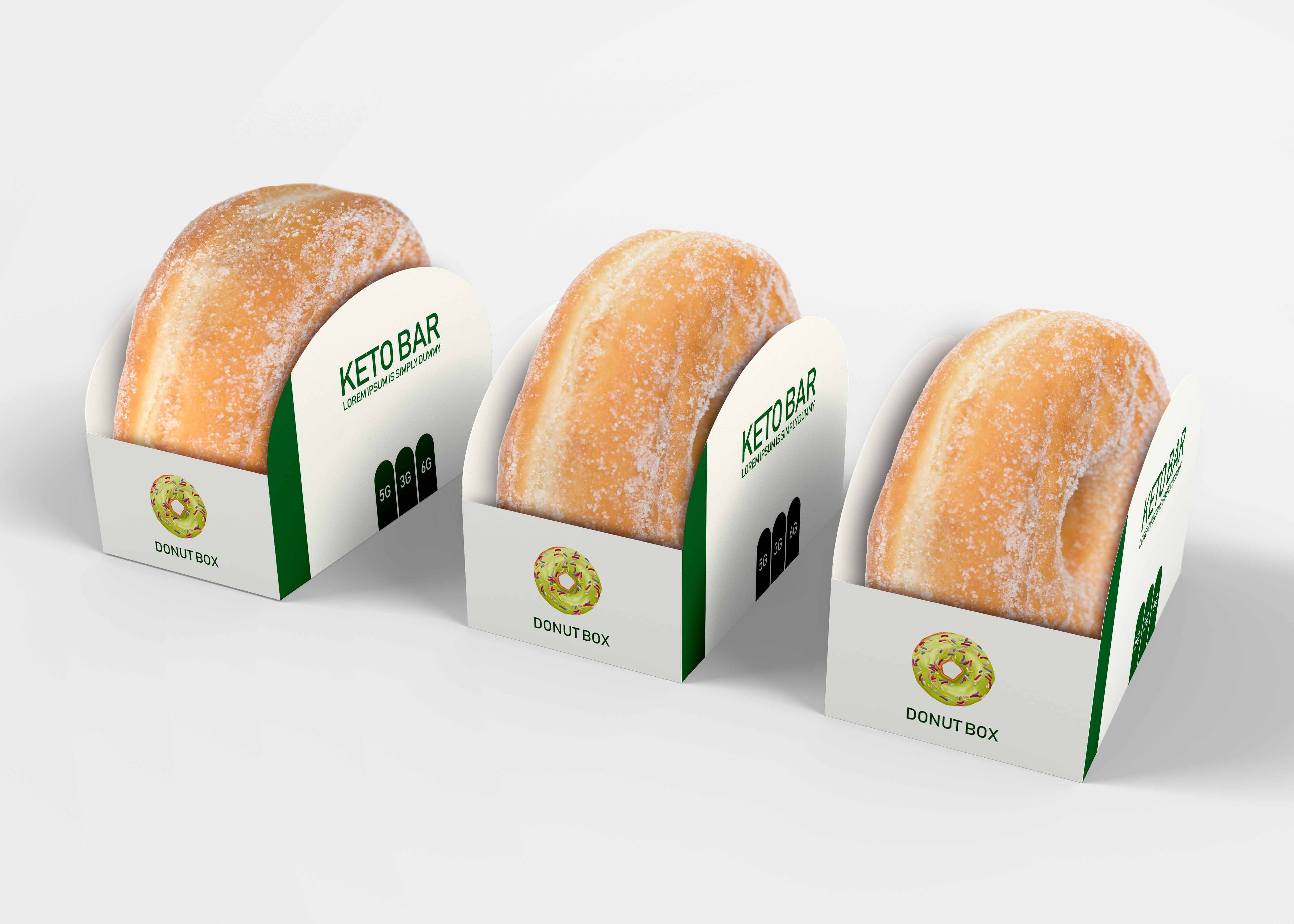 Download Free Paper Donut Box Packaging Mock Up | Donut box, Cake ...