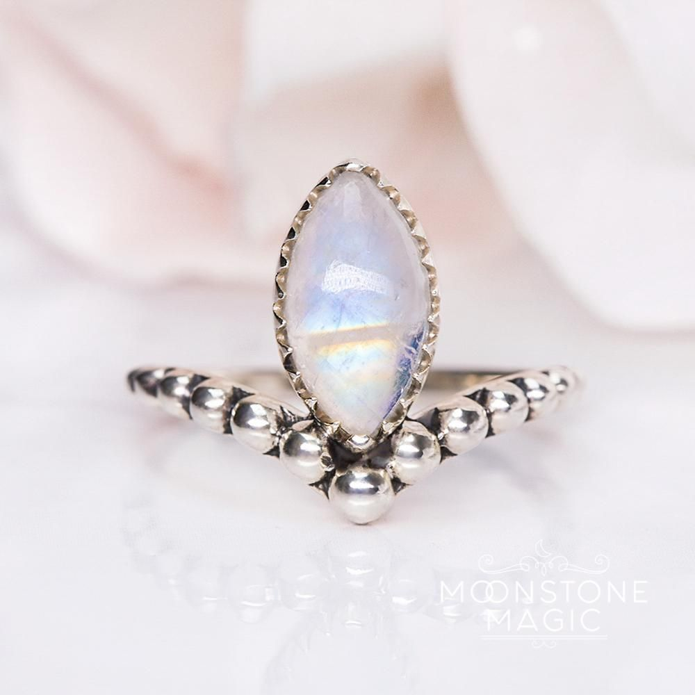 Moonstone Ring - Edgy Serenity