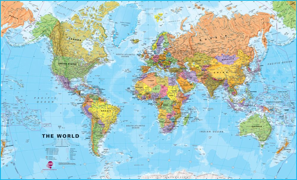 World Map With Geographic Features Free Printable Maps - Us map with geographical features