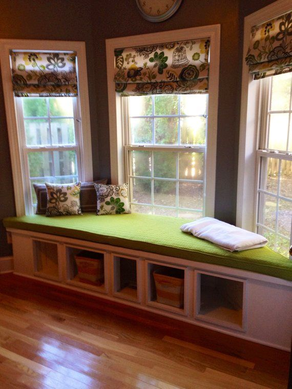 Custom Trapezoid Bay Window Seat Cushion With Cording Playroom