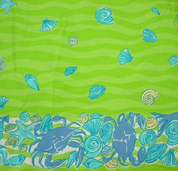 Low Tide with Border Lilly pulitzer fabric, Lilly