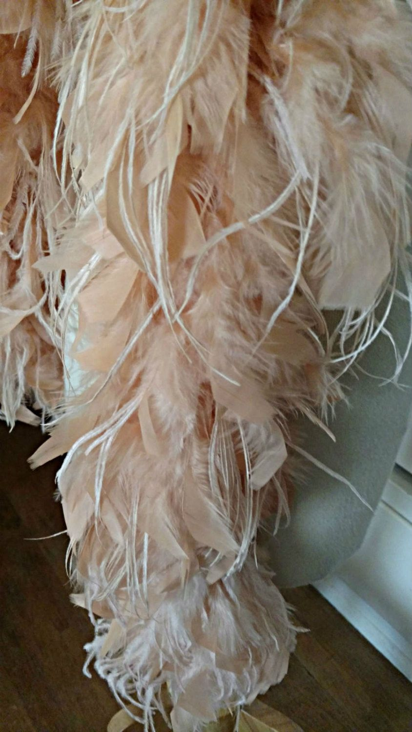 Vintage Pink Boa 1920s Flapper Ostrich Mixed Bird Feathers ...
