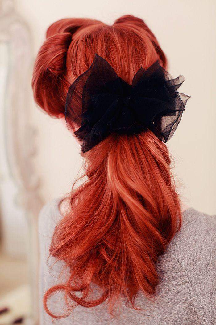 romantic retro ponytail tutorial