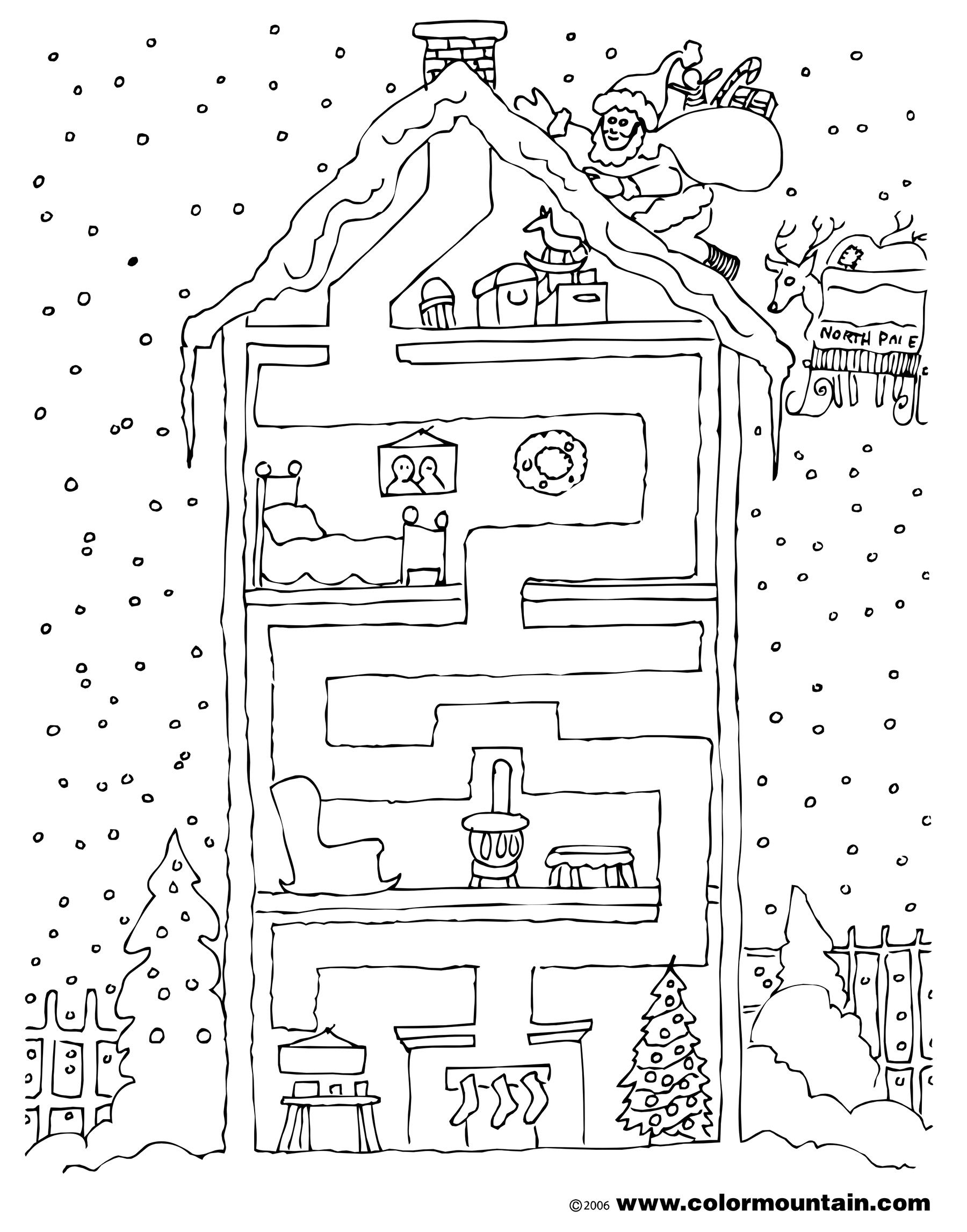 Maze Coloring Page Excerpt Post Of Maze Coloring Page Deer Maze ...