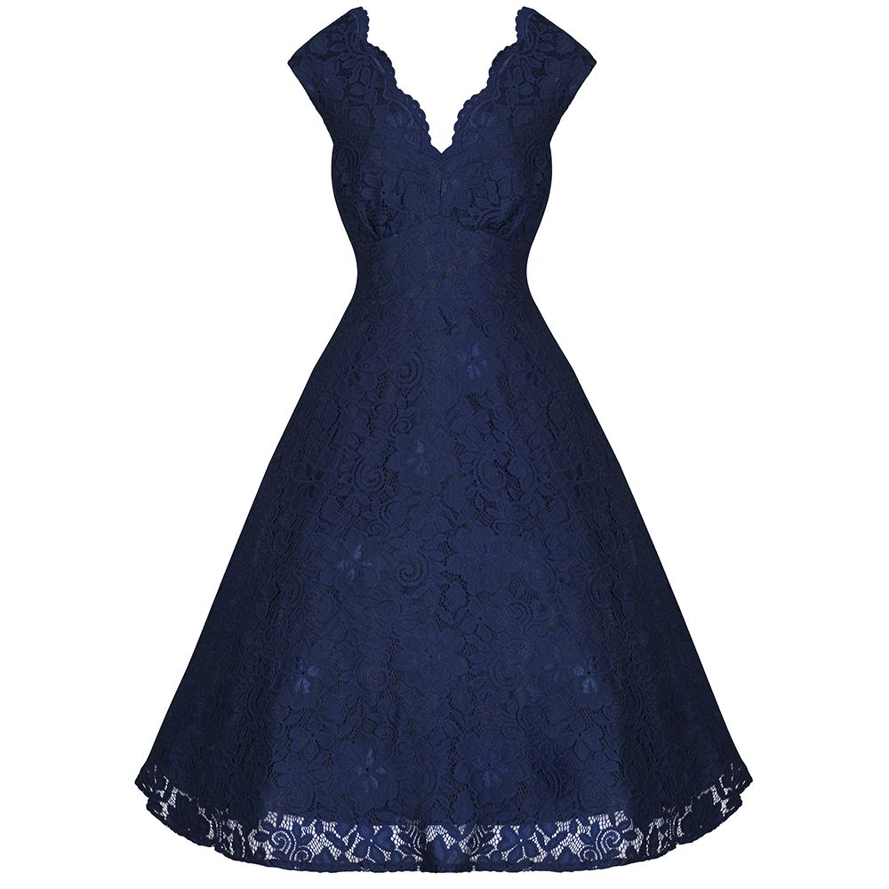 Absolutely Stunning Navy Embroidered Lace Dress GorgeousV Neck Sleeveless Style, Striking Navy Blue Colour – The Perfect Dress For Party Season!! Features Broderie Anglaise Style Lace Detailing – Simply A Beautiful Dress This Dress Has A Double Layered Underskirt (our photo taken with additional Petticoat for Flare effect – available from our website) – Second […]