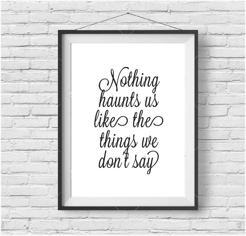Inspirational printable art motivational poster calligraphy print quote print black and white