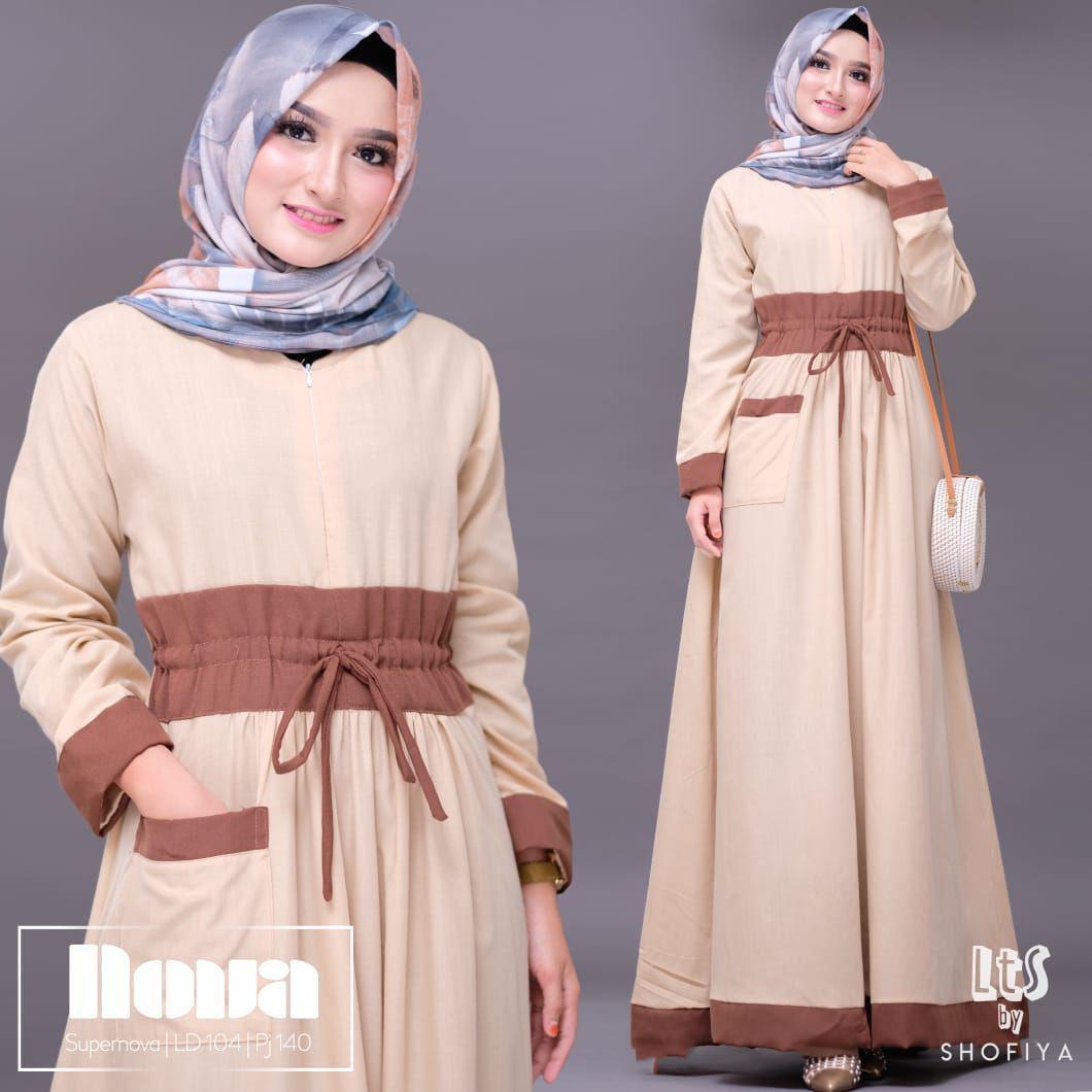 Model Gamis Kombinasi Polos Terbaru 2018 Model Pakaian Muslim Model Baju Wanita Pakaian Wanita