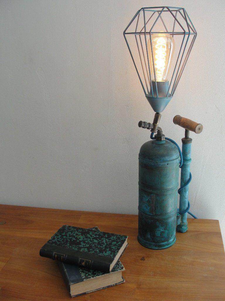 Lampe Originale Objet Detourne Style Industriel Steampunk Objets Detournes Lampe Bocal Lamp