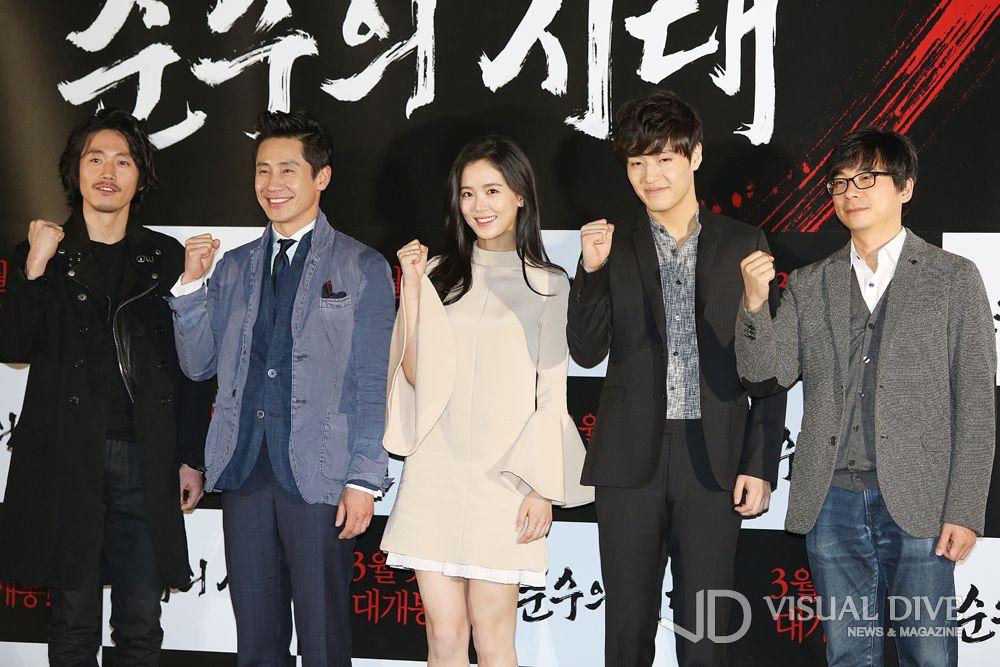 """장혁-신하균-강하늘 """"영화 '순수의 시대' 잘 부탁드립니다~"""" [포토뉴스] #Korea Movie / #Photo ⓒ 비주얼다이브 무단 복사·전재·재배포 금지"""