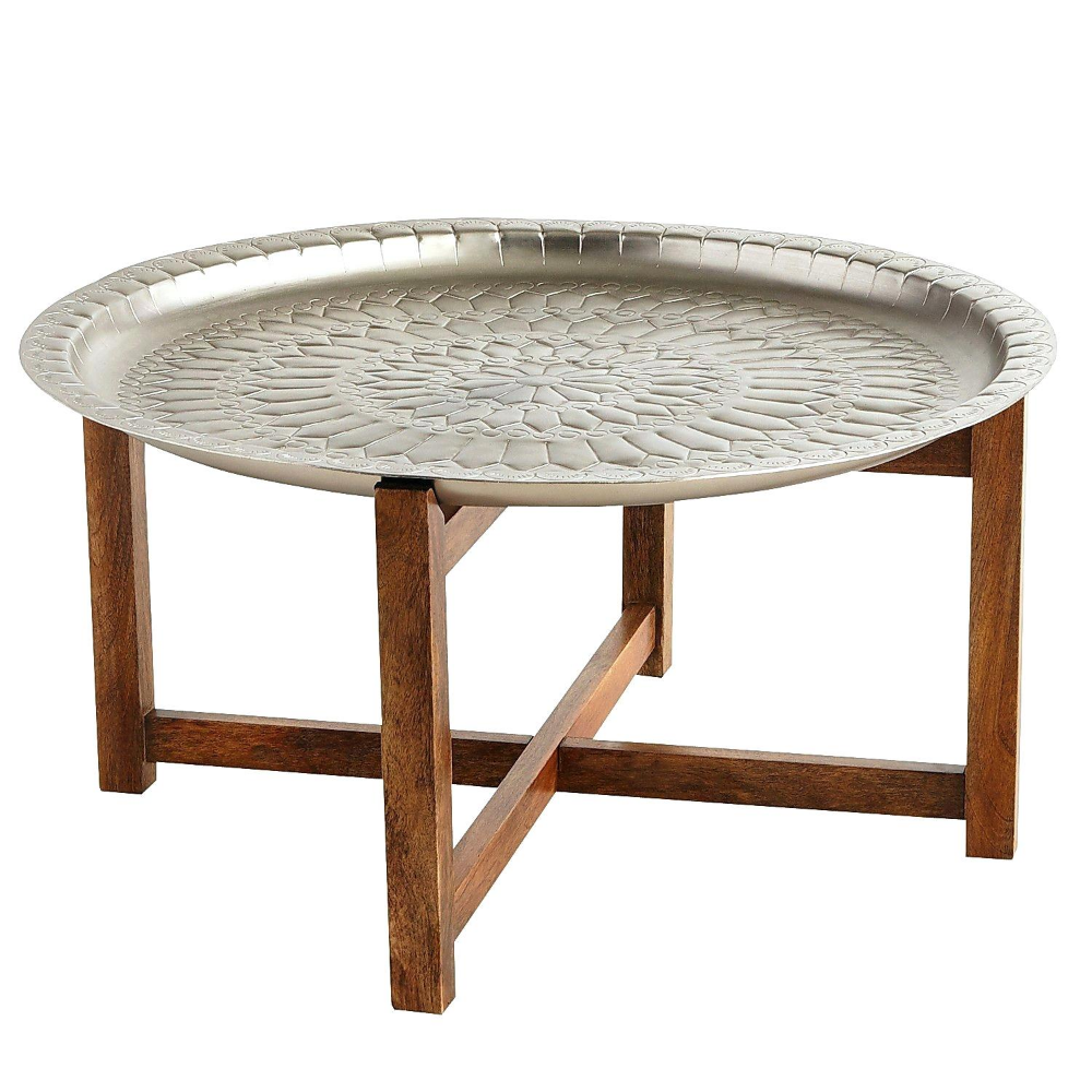 Moroccan Table Stand Tray Wooden Hammered Aluminium Beautiful Designer Tray With Wood Stand Coffee Table Find Com Diseno De Muebles Muebles Muebles De Madera [ 1000 x 1000 Pixel ]