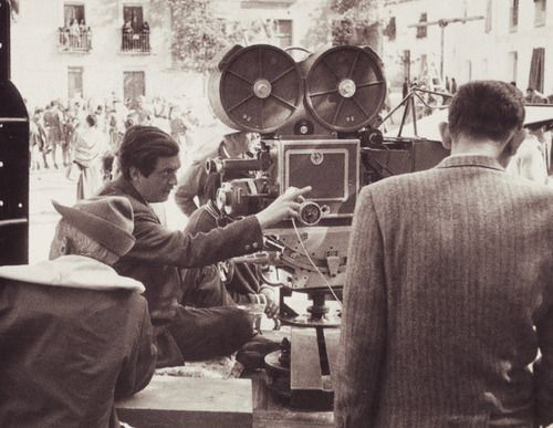 Stanley Kubrick on the set of Spartacus #2.