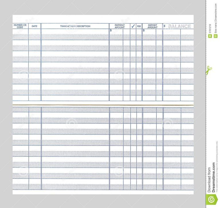 It is a photo of Printable Checkbook Register Pdf throughout simple