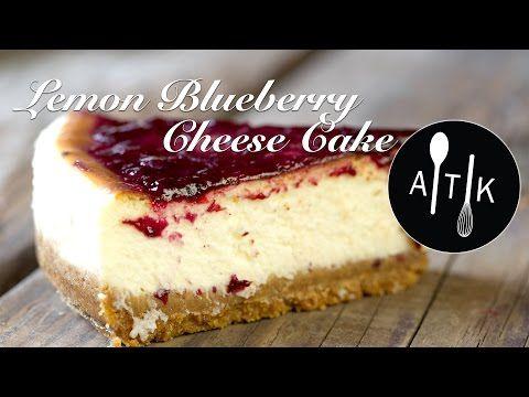 How to Make The Best Lemon Blueberry Cheesecake | Summer Cheesecake Recipe