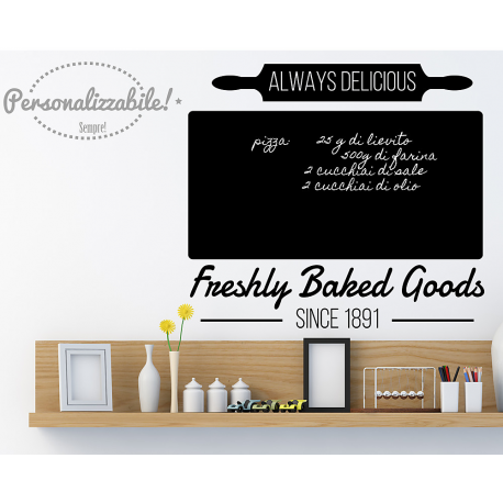 Lavagna adesiva da cucina lavagnetta wall stickers Freshly Baked ...
