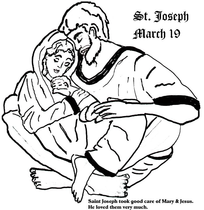 Saint Joseph Coloring Pages Catholic Coloring Catholic