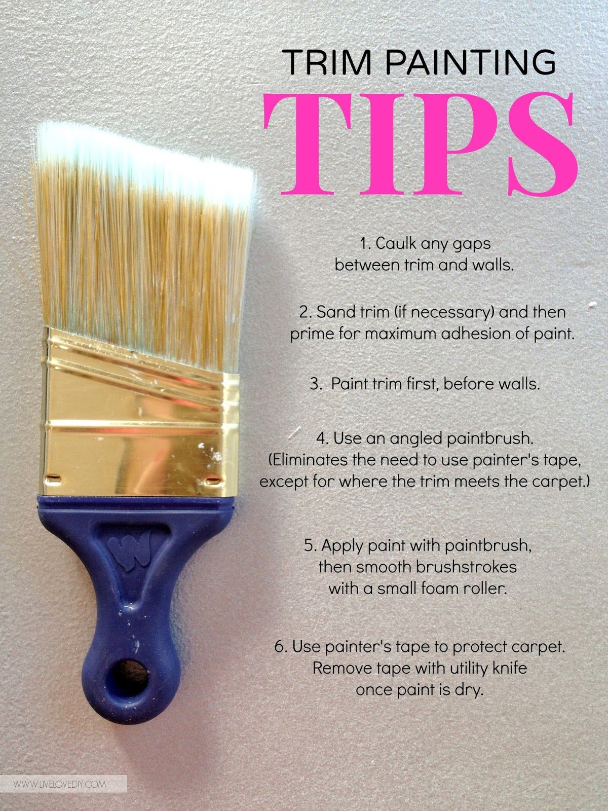 How To Paint Trim Painting Diy