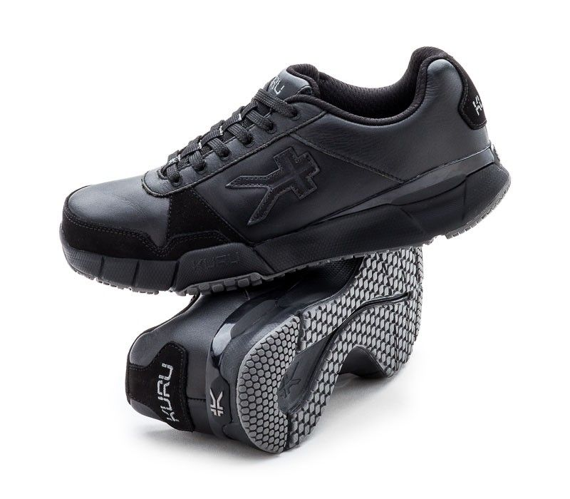 17e2ed08ee Quantum Fitness Walking Shoe for Plantar Fasciitis - Black & Tidal Wave -  Pair - www.kurufootwear.com