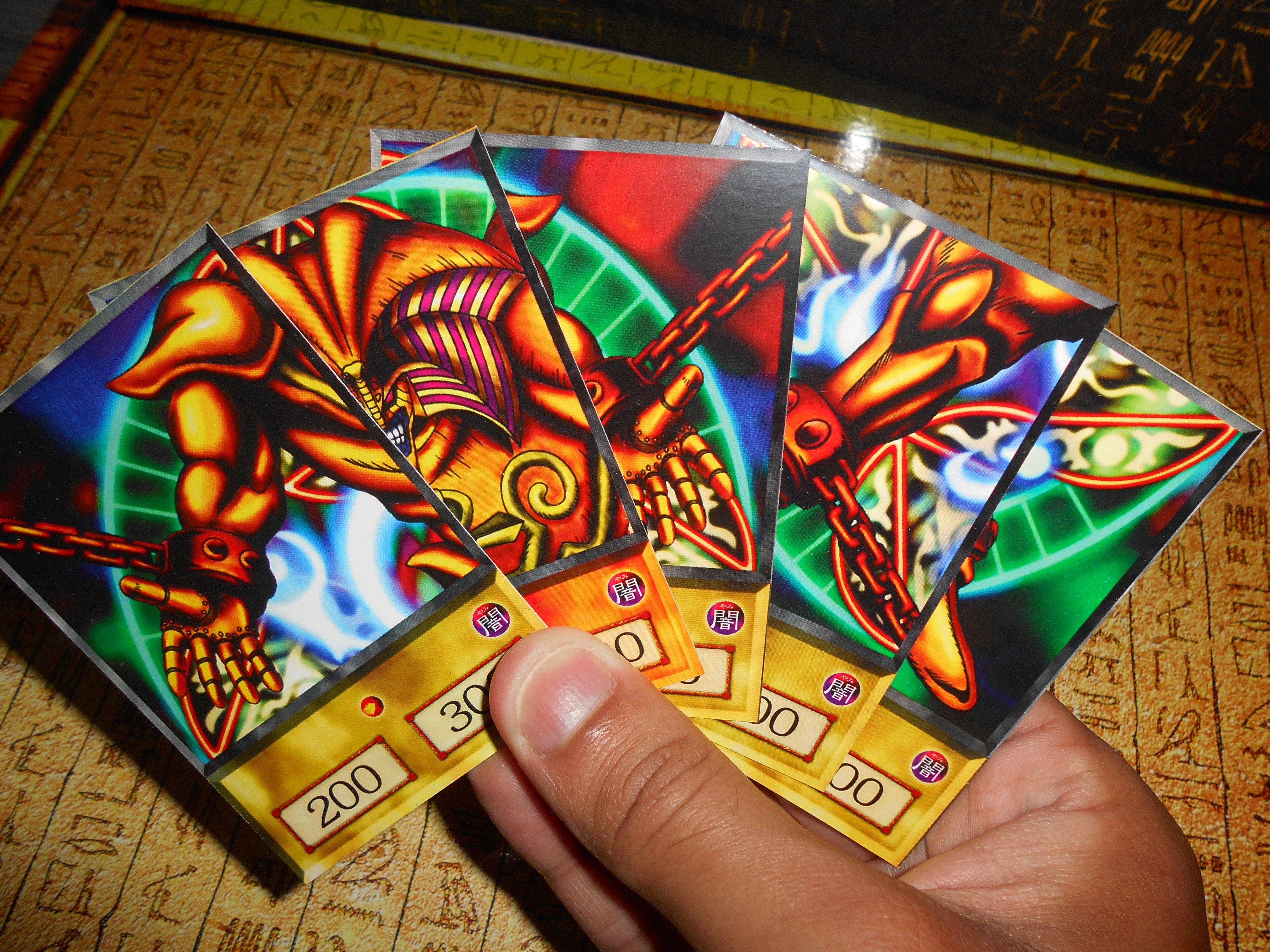 Exodia anime card yugi muto deck yugioh orica anime etsy