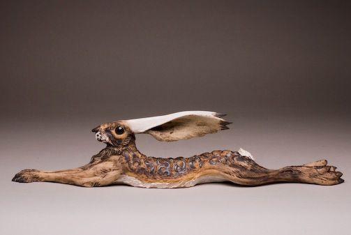 Reclining Hare.   made by Jeremy James Ceramics.  http://www.jeremyjamesceramics.co.uk