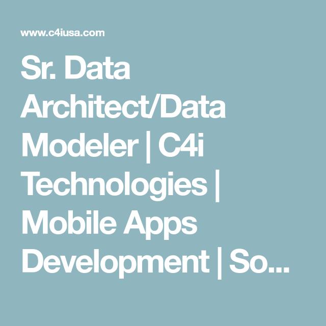 Sr. Data Architect/Data Modeler | Job description and Media marketing