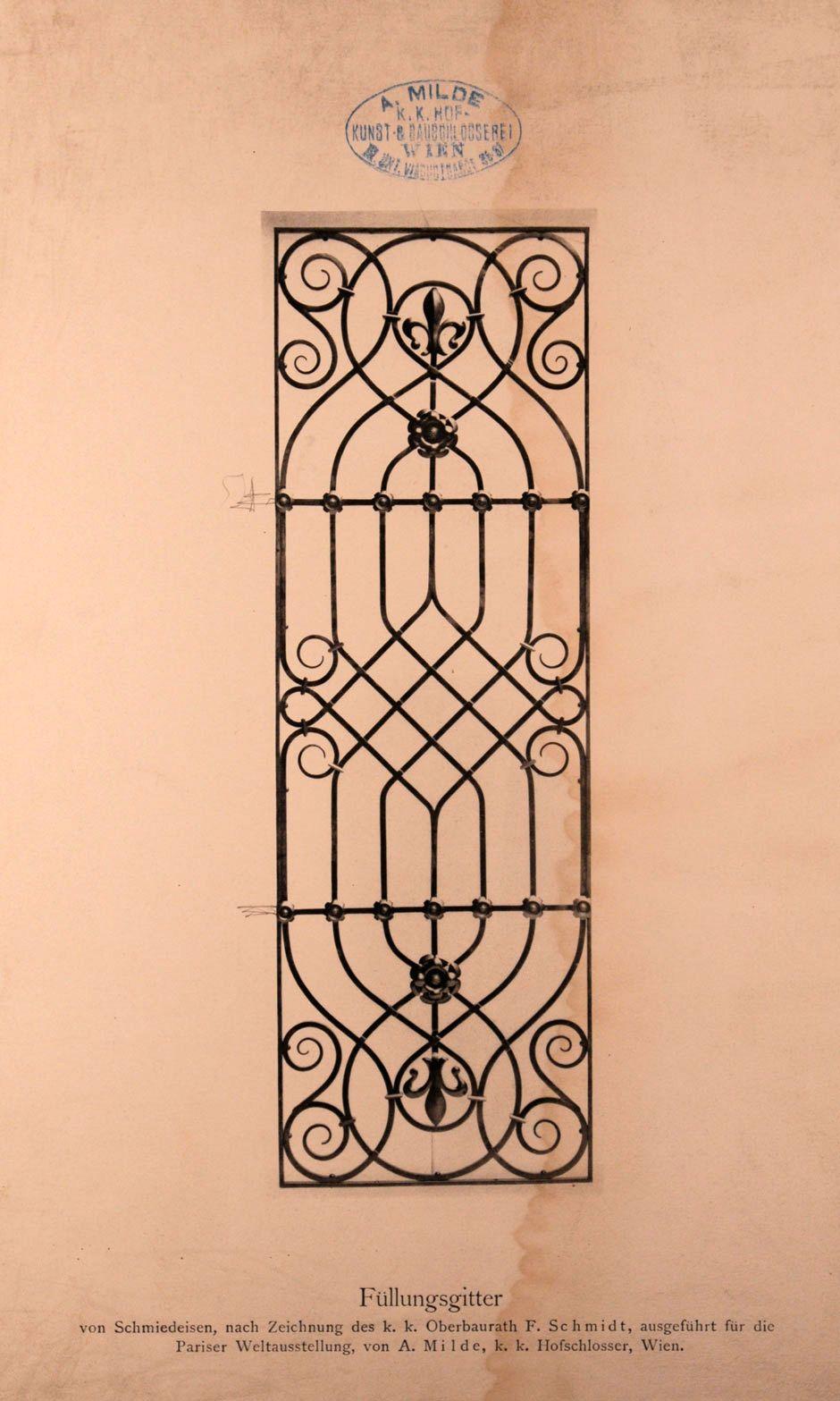 Schmiedeeisernes füllungsgitter finestre pinterest iron