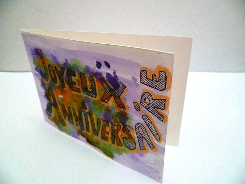 Carte D Anniversaire Aquarelle Originale Avec Images Carte