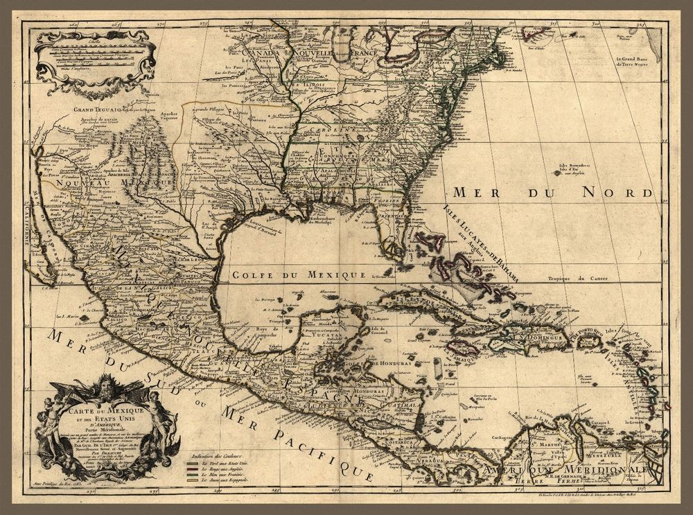 Antique Map Of North America.1783 Map North America Mexico United States Cuba Antique 20