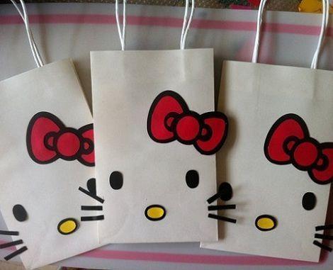 20faa05a5 bolsas de cumpleanos de hello kitty caseras | fiestas | Hello kitty ...