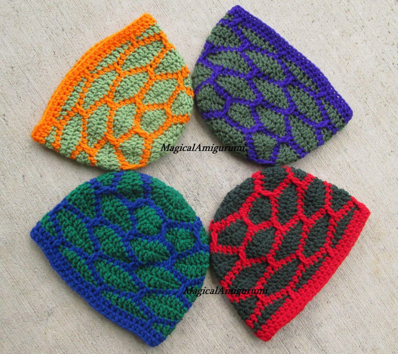 Crochet Shell Shock Beanie Teenage Mutant Ninja Turtle TMNT-winter ...