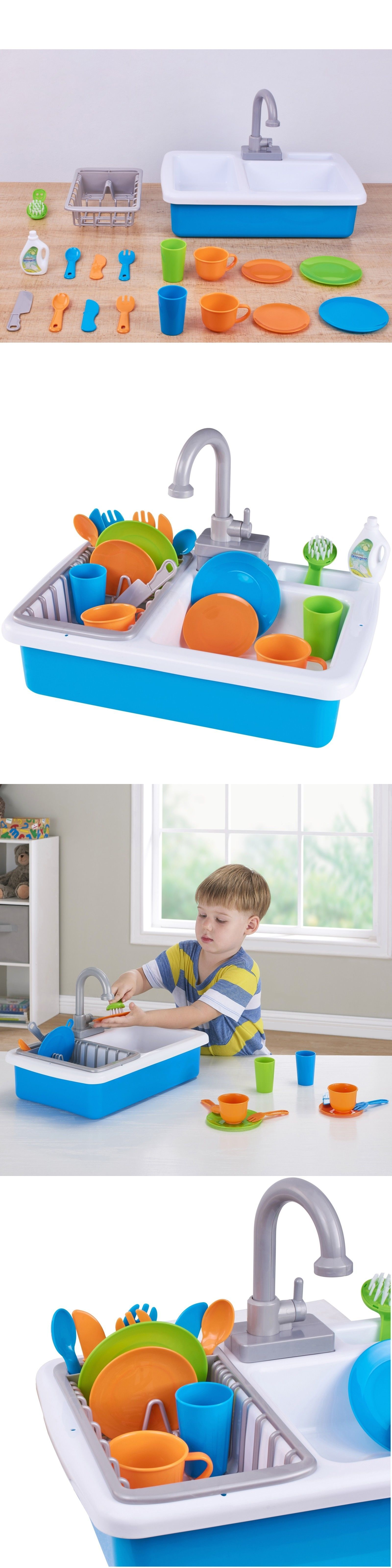 Kitchens 158746 Kitchen Sink Play Set Toy Plastic Designed For Kids Children Toddler Buy It Now Only 29 1 On Kids Play Toys Kids Playing Plastic Design