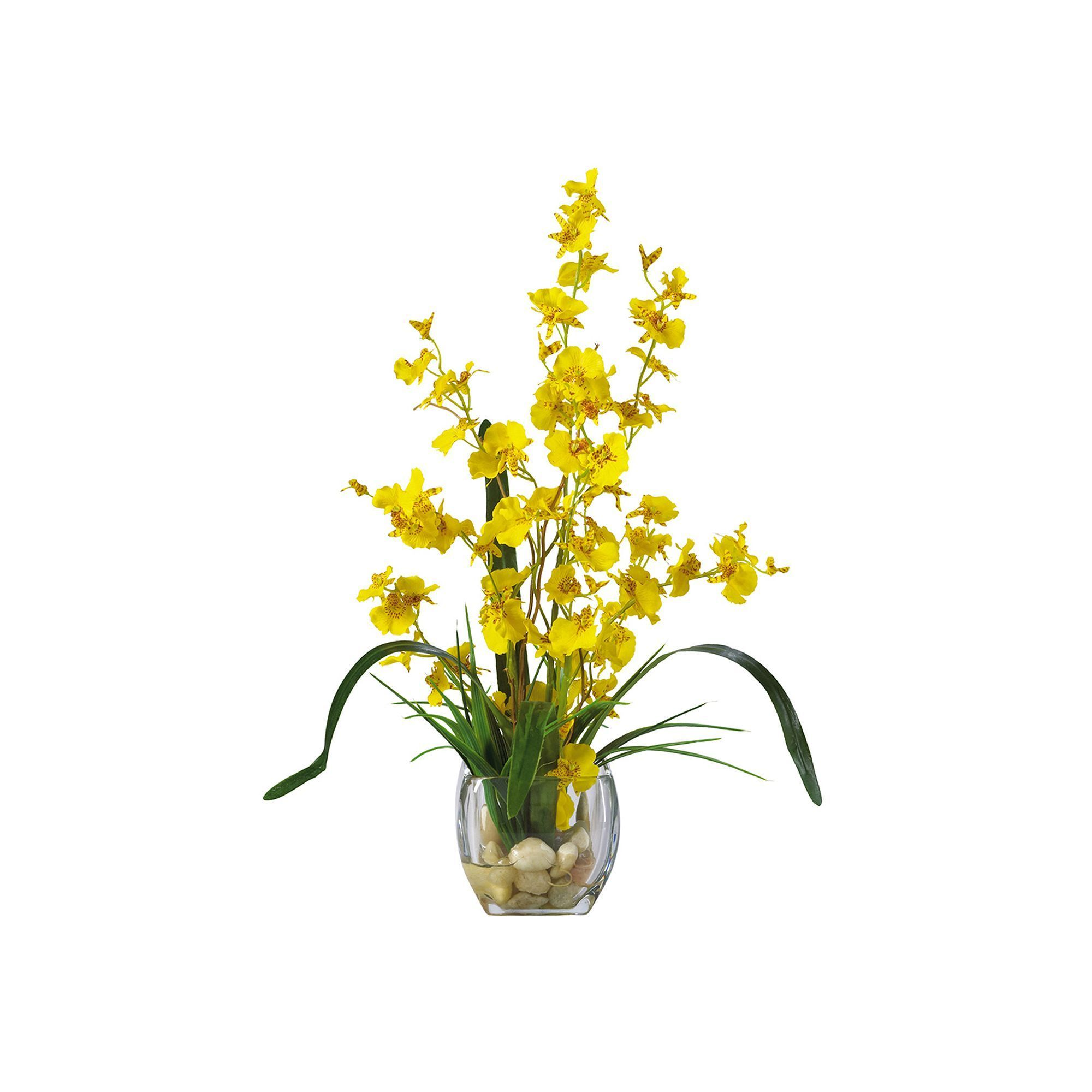 Nearly natural dancing lady orchid floral arrangement yellow