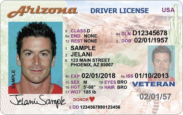 Essential Info For Arizona Drivers License Driving License New Drivers