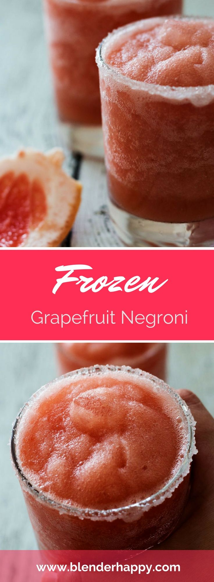 Looking for a great twist on a classic cocktail? Try a Frozen Grapefruit Negroni…