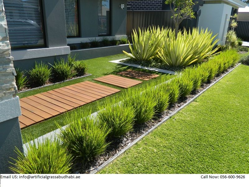 We Are Providing You The Fast And Easy Installing In Abu Dhabi More Than In 2020 Front Yard Garden Design Front Yard Landscaping Design Front Yard Landscaping Simple
