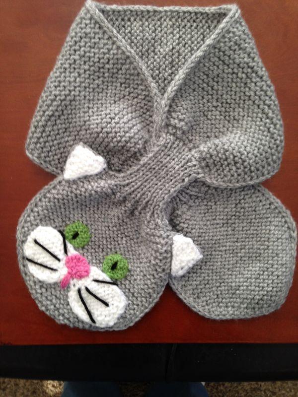 Photo of Mädchen-Pullover mit Katzengesicht und Katzenschlüsselloch-Schal (K), #katzeng…