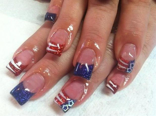 4th Of July By Vividnails From Nail Art Gallery July Nails Usa Nails Nails