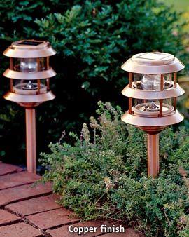 Copper Solar Landscape Lights Solar Lighting The Brightest Longest Lasting