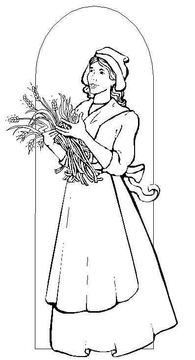 Pilgrim Coloring Pages Woman Coloring Pages Thanksgiving