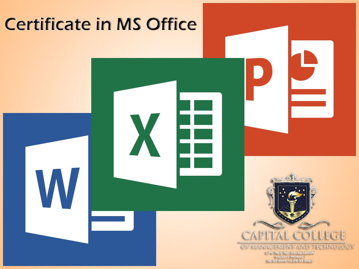Certificate In Ms Office Basics This Course Aims To Provide A