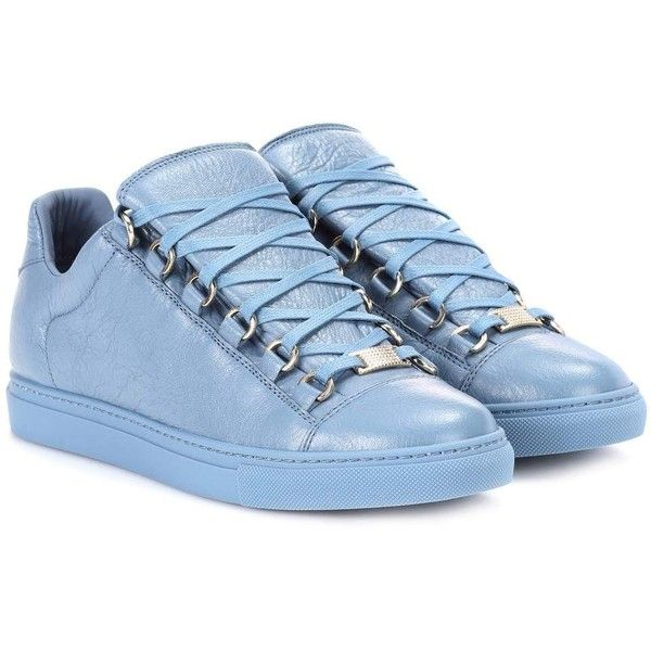 Corresponsal De tormenta cráneo  Balenciaga Arena Leather Sneakers ($545) ❤ liked on Polyvore featuring  shoes, sneakers, blue, leather f… | Blue leather shoes, Balenciaga  trainers, Balenciaga arena