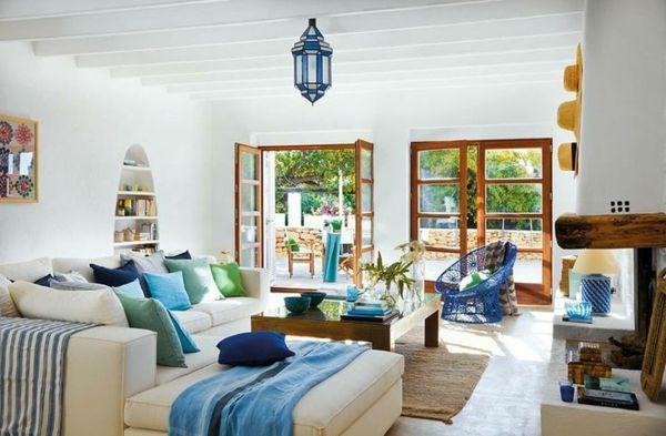 awesome Mediterrane Einrichtungsideen landhausstil möbel wohnzimmer ...