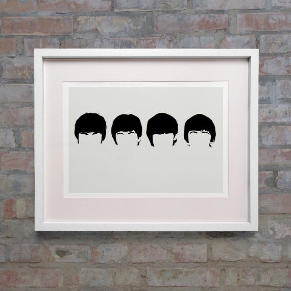 The Beatles 1964 Era Minimalist Heads Digital Art By
