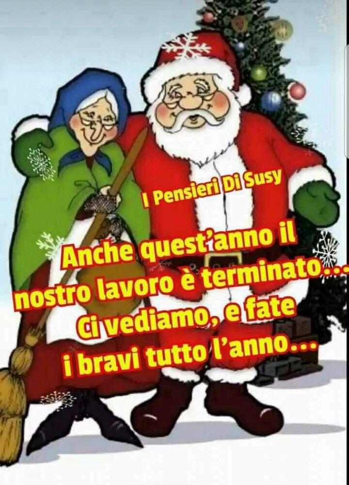 Immagini Simpatiche Di Babbo Natale.Babbo Natale E La Befana Arrivederci Alla Prossima La