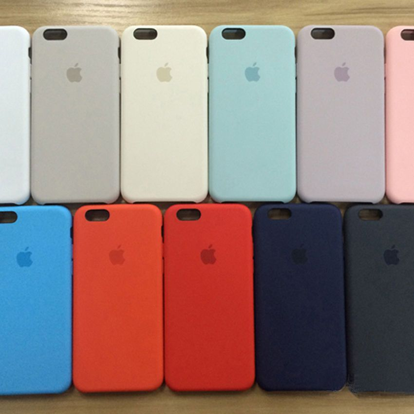 1c219998ee3 Authentic OEM Multicolor Silicone Case Cover For Apple iphone 6  6S Plus
