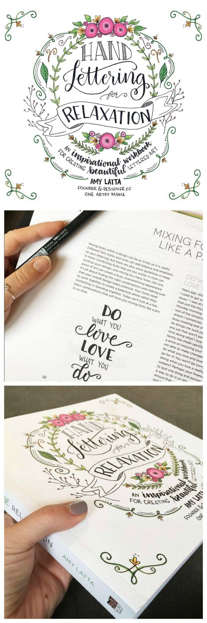 Hand Lettering for Relaxation Book | Inspirational, Create and ...