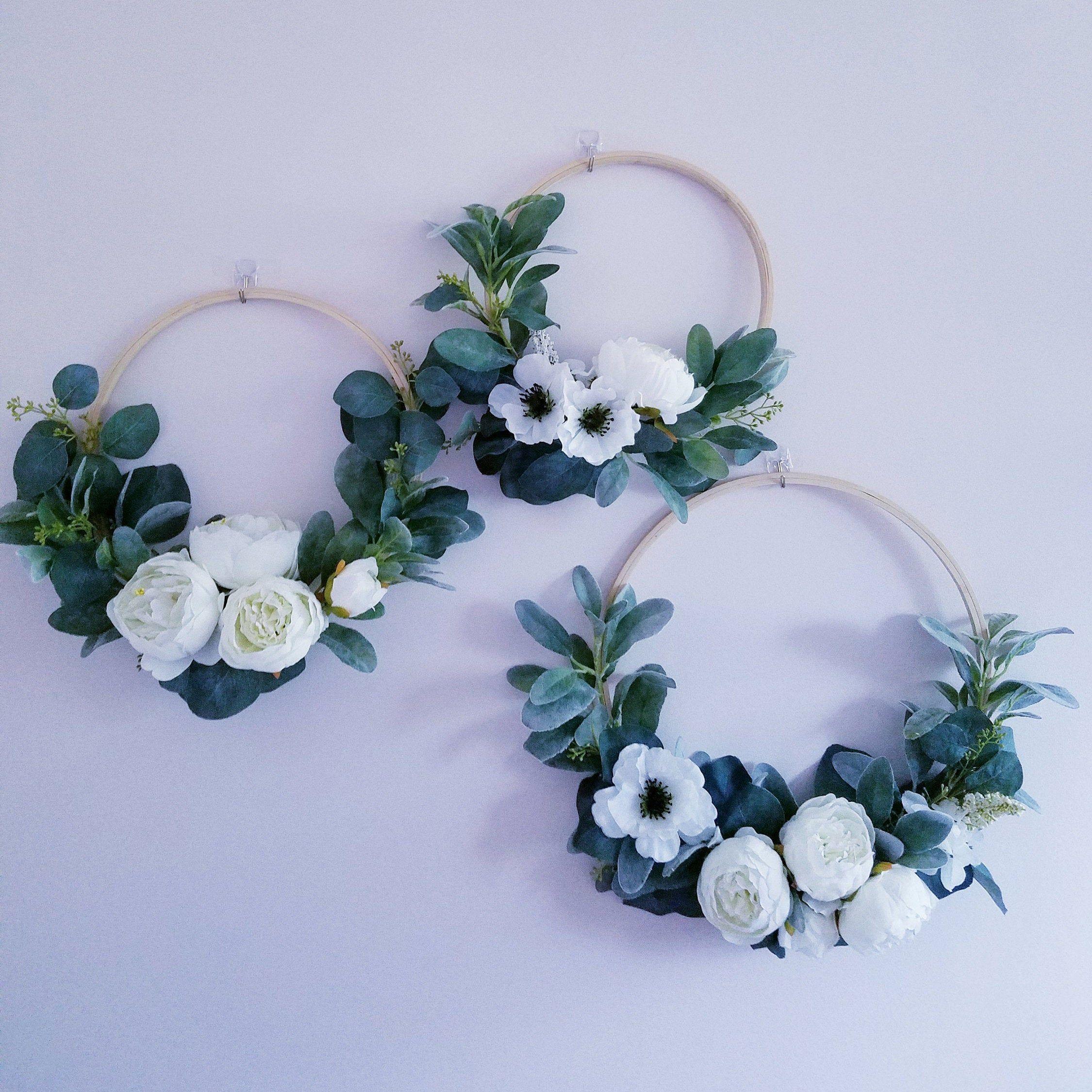 Photo of Set of three tire wreaths, children's wreaths, wedding wreaths