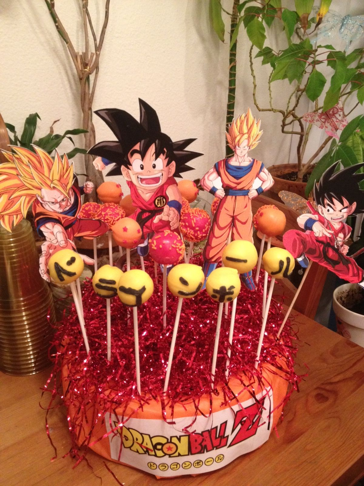 Dragon Ball Z Cake Pops