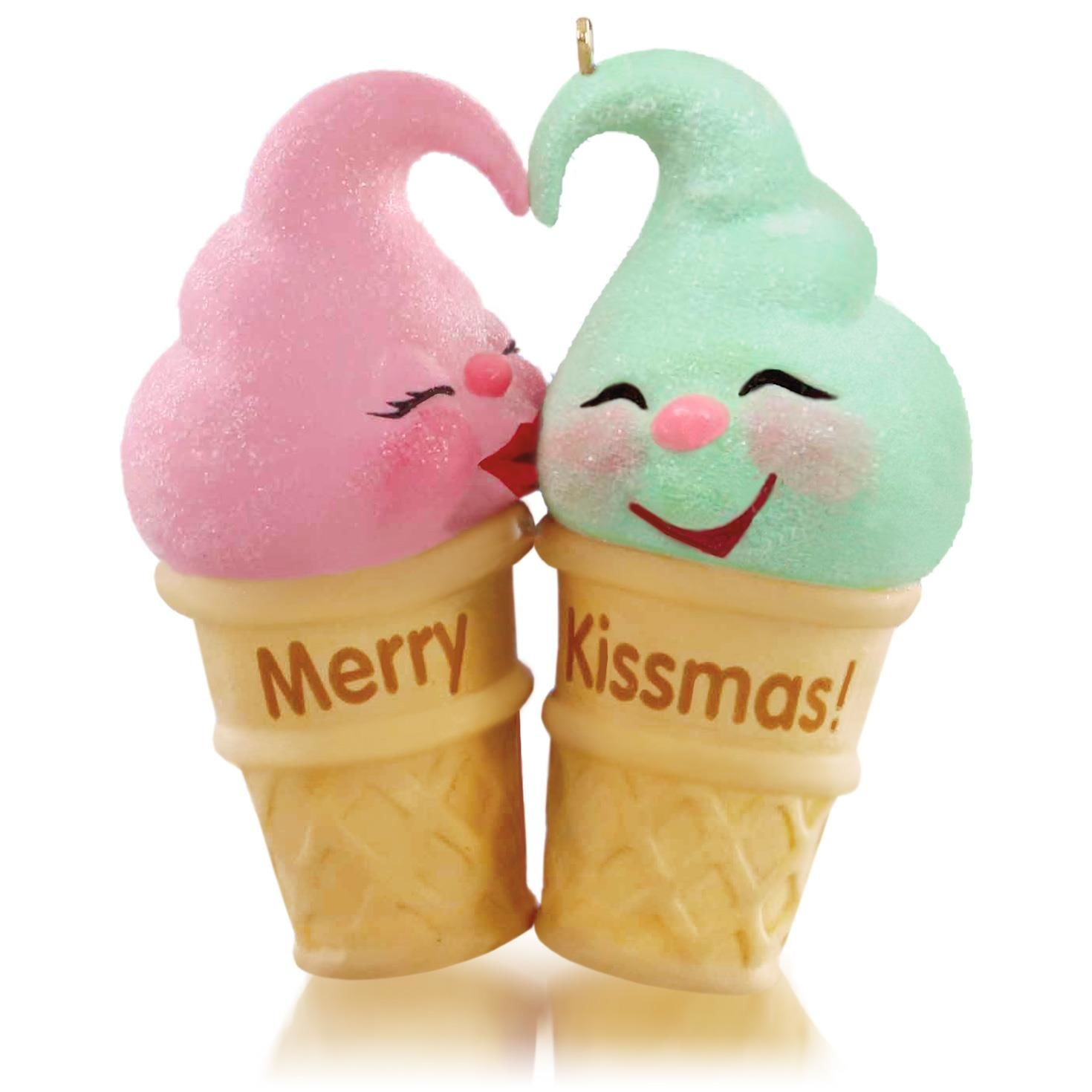 Sweet Love Ice Cream Kisses Ornament Available October 2015 $1495