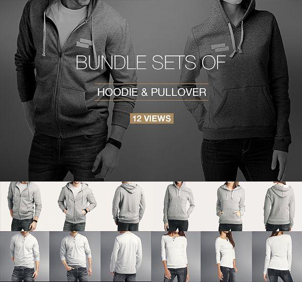 Hoodie Pullover Bundle Mock Up Hoodie Mockup Clothing Mockup Shirt Mockup
