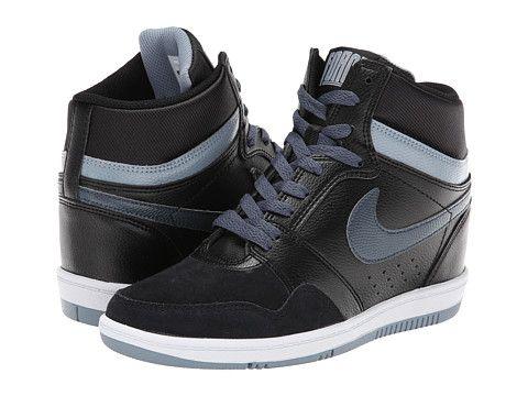 3a766b95076f93 Nike Force Sky High Sneaker Wedge Black Magnet Grey White Dark Magnet Grey  - Zappos.com Free Shipping BOTH Ways